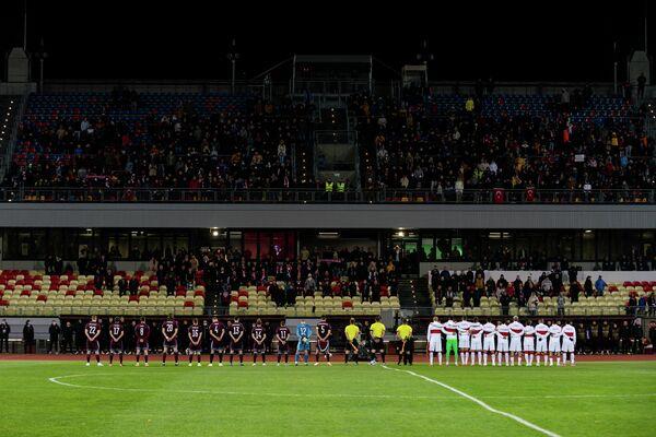 Перед началом матча 8-го тура отборочного турнира чемпионата мира - 2022 Латвия - Турция - Sputnik Латвия