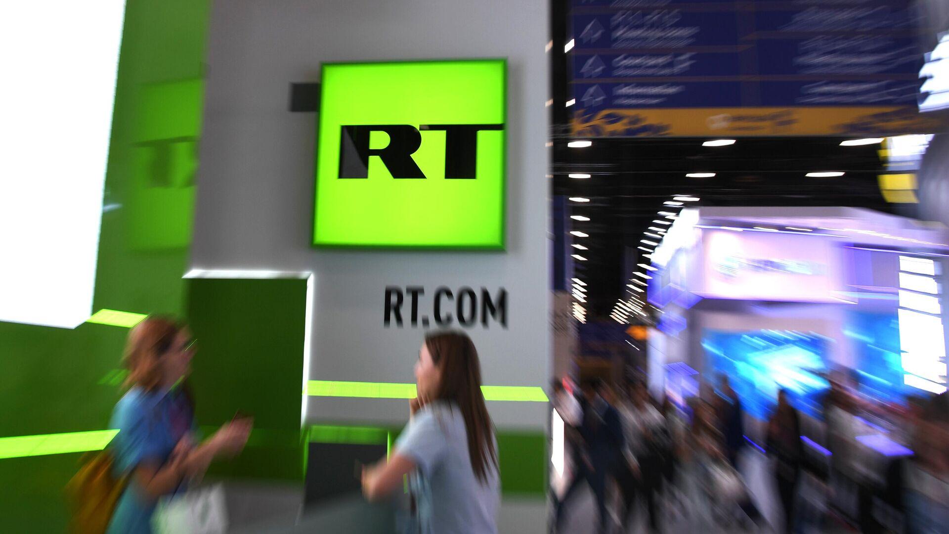 Логотип телеканала RT (Russia Today) - Sputnik Латвия, 1920, 13.10.2021