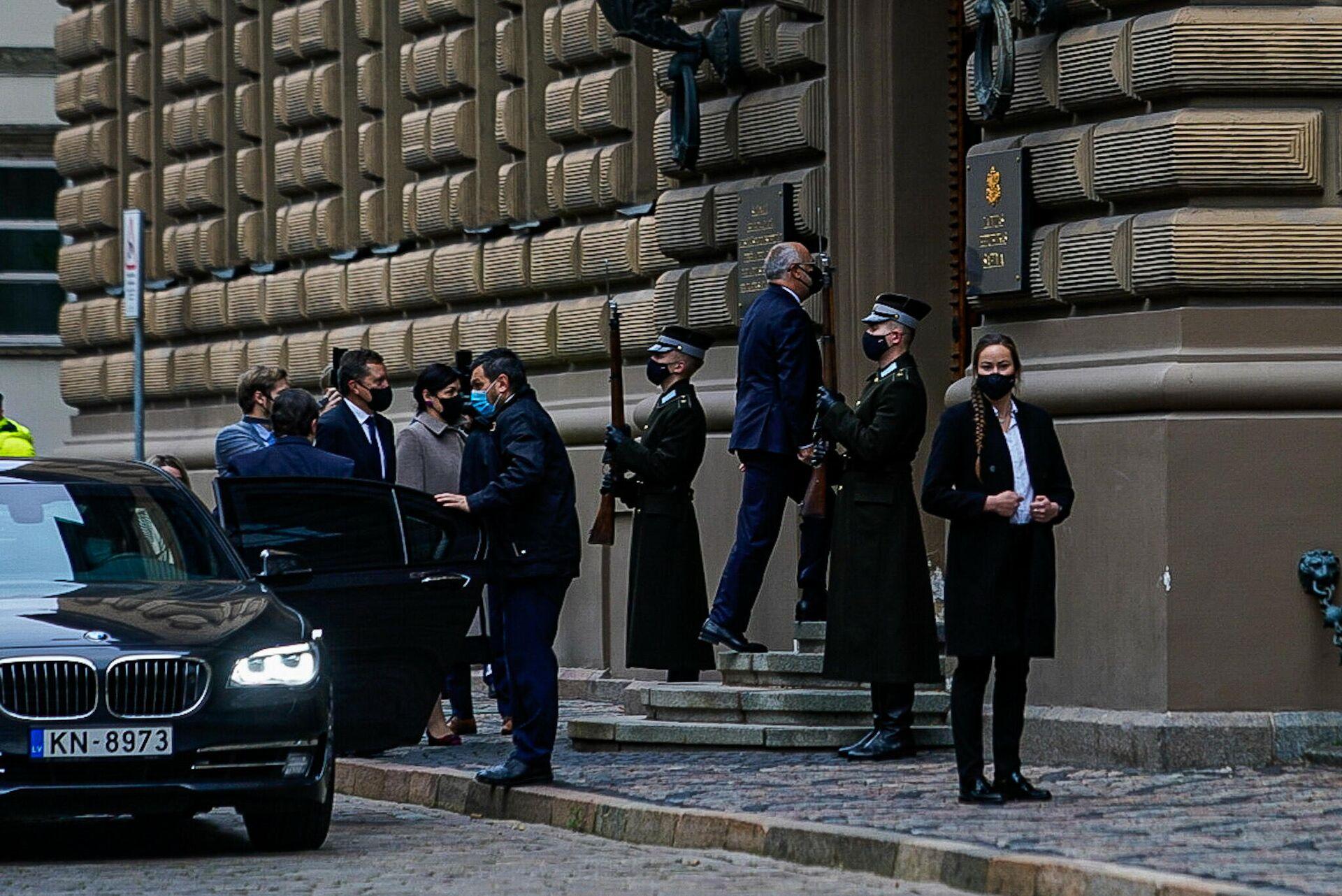 Президент Эстонии Алар Карис прибыл в Сейм Латвии - Sputnik Латвия, 1920, 14.10.2021