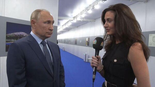 Большое интервью Путина CNBC: о санкциях, энергетике и смерти доллара - Sputnik Латвия