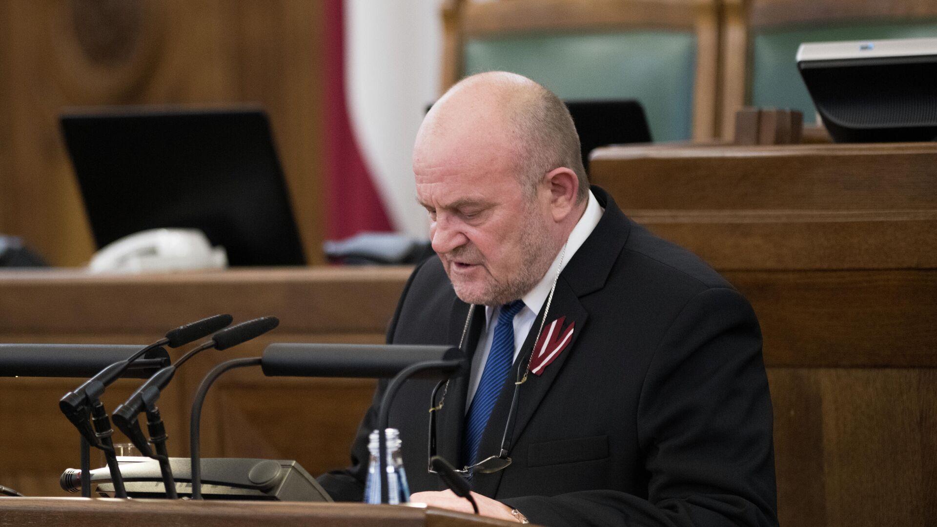 Депутат Сейма Латвии Янис Адамсонс - Sputnik Латвия, 1920, 14.10.2021