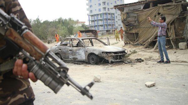 Последствия ракетного обстрела в Кабуле - Sputnik Латвия
