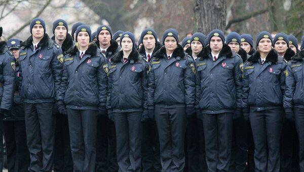 Полицейские на параде в Латвии - Sputnik Latvija