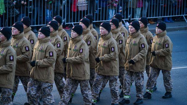 Яунсарги на параде в честь столетия Латвии - Sputnik Латвия