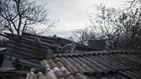 Ситуация в поселках Саханка и Зайцево Донецкой области - Sputnik Latvija