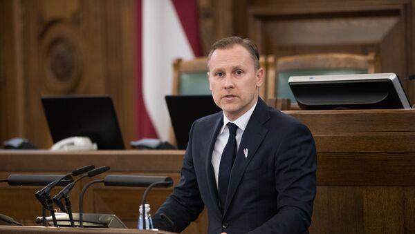 Алдис Гобземс дает депутатскую присягу в Сейме - Sputnik Латвия