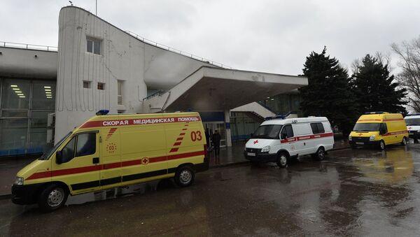 Машины Скорой медицинской помощи в аэропорту Ростова-на-Дону - Sputnik Латвия