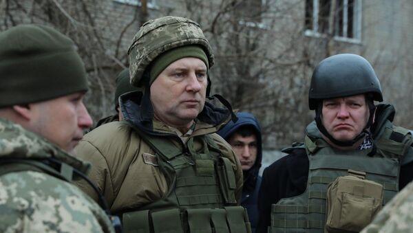 Раймондс Вейонис на востоке Украины, 25 ноября 2018 года - Sputnik Latvija