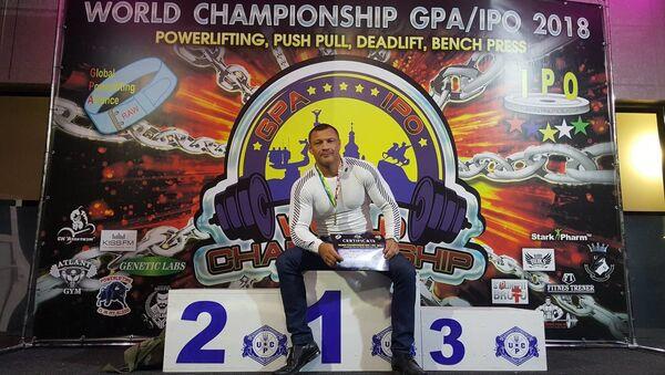 Чемпион мира по жиму штанги лежа в категории ветеранов Павел Григорьев - Sputnik Латвия