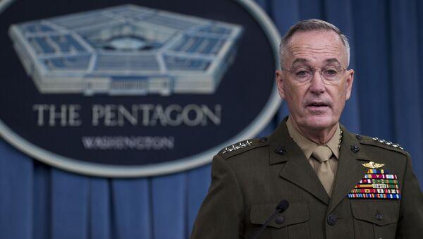 Глава объединенного комитета начальников штабов Соединенных Штатов, генерал Джозеф Данфорд - Sputnik Latvija
