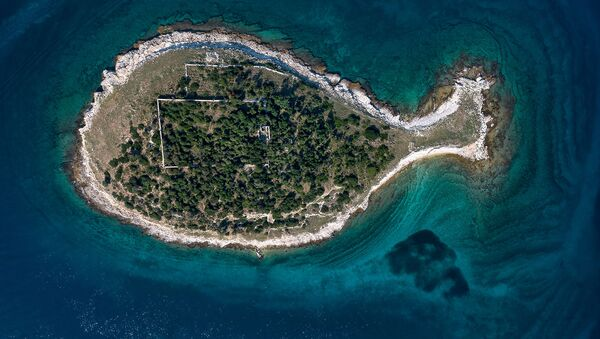 Остров в виде рыбы архипелага Бриони, Хорватия  - Sputnik Латвия