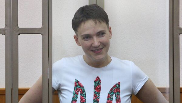 Заседание суда по делу Надежды Савченко - Sputnik Latvija