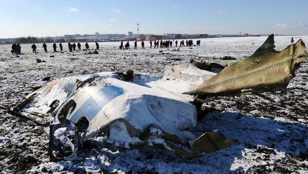 На месте крушения пассажирского самолета Boeing-737-800 - Sputnik Latvija