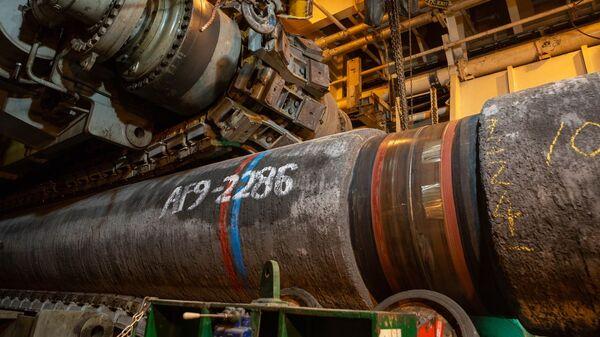 Трубы газопровода Северный поток — 2 - Sputnik Латвия