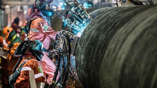 Трубы газопровода Северный поток — 2 - Sputnik Latvija