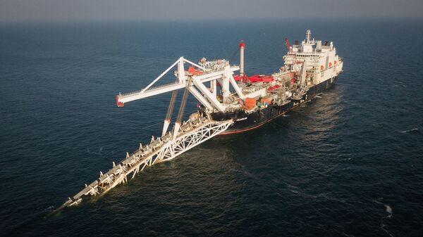 Укладка труб газопровода Северный поток — 2 - Sputnik Latvija