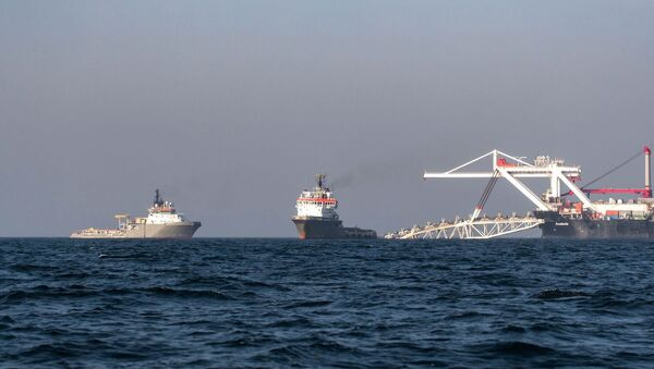Укладка труб газопровода Северный поток — 2 - Sputnik Латвия