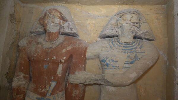 Находка археологов в Египте вызвала ажиотаж среди ученых - видео - Sputnik Latvija
