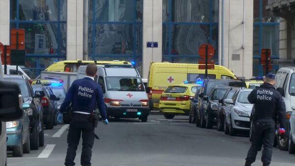 В районе взрывов в Брюсселе. - Sputnik Латвия