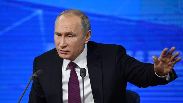 Ежегодная большая пресс-конференция президента РФ В. Путина - Sputnik Латвия