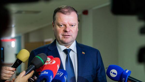 Премьер-министр Литвы Саулюс Сквернялис - Sputnik Latvija