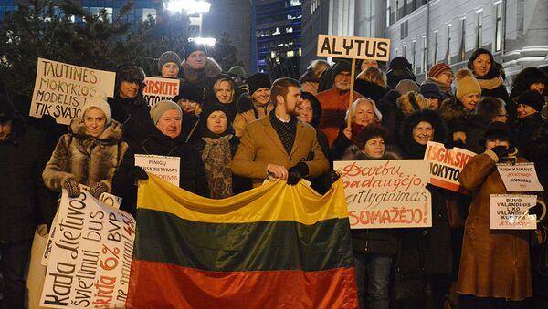 Митинг работников образования и просвещения в Литве - Sputnik Latvija