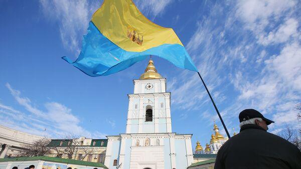 Народное вече на Михайловской площади в Киеве - Sputnik Латвия