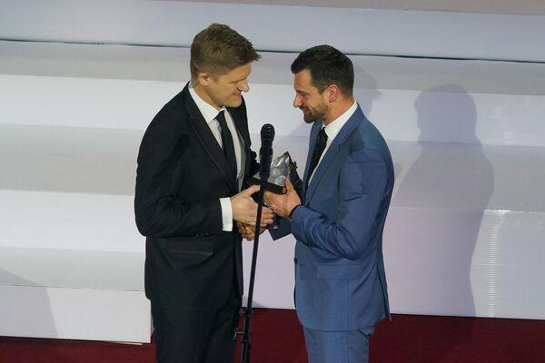Скелетонист Мартинс Дукурс на церемонии награждения самых успешных людей латвийского спорта по итогам 2018 года - Sputnik Латвия