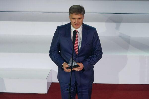 Наставник латвийской бобслейной команды Сандис Прусис на церемонии награждения самых успешных людей латвийского спорта по итогам 2018 года - Sputnik Латвия