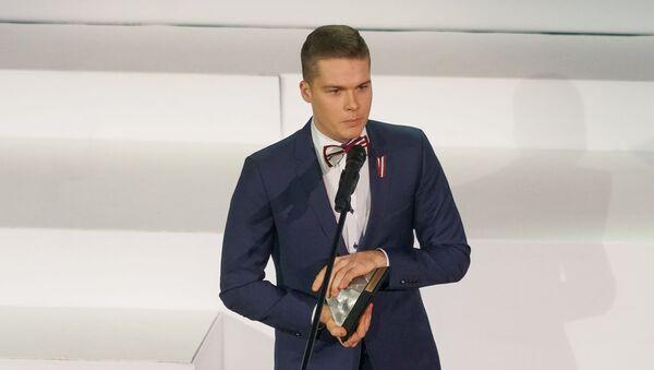 Паулс Йонас на церемонии награждения самых успешных людей латвийского спорта по итогам 2018 года - Sputnik Латвия