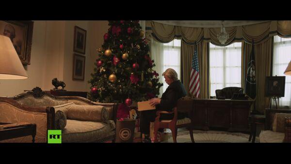 Новогоднее вмешательство в Белом доме: что RT подарил Трампу на Рождество - Sputnik Latvija