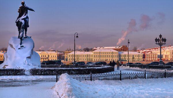 Зимний Санкт-Петербург, архивное фото - Sputnik Латвия