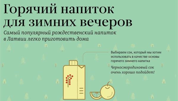 Горячий напиток для зимних вечеров - Sputnik Латвия
