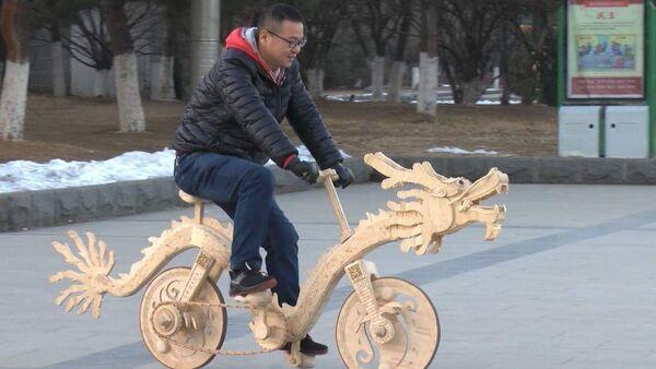Велосипед из палочек для мороженого - Sputnik Latvija