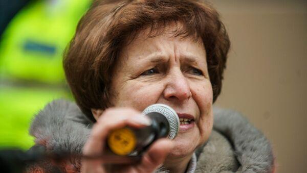 Татьяна Жданок на акции протеста в Риге против социального и национального неравенства в Латвии. 12 января 2019 г. - Sputnik Latvija