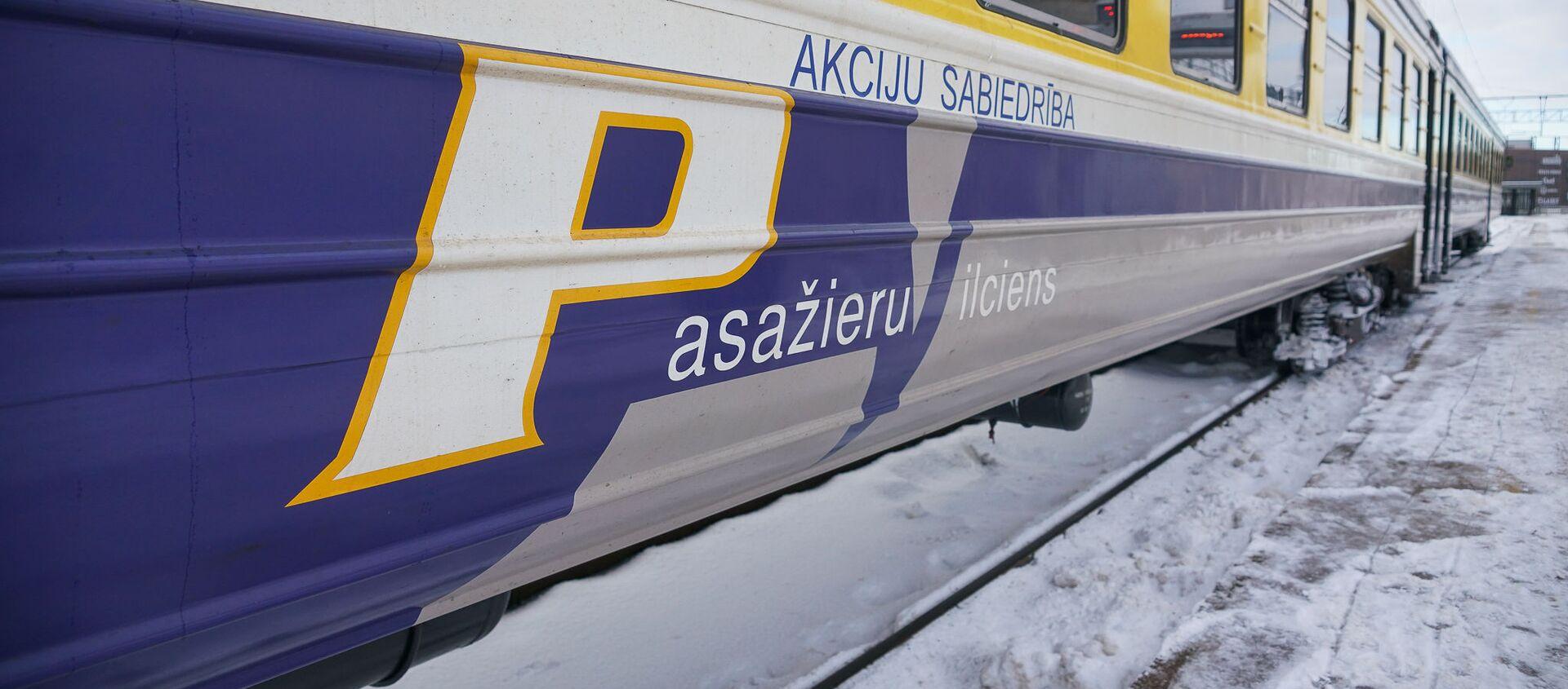 Дизельный поезд АО Pasažieru vilciens  на Рижском железнодорожном вокзале - Sputnik Latvija, 1920, 09.01.2021