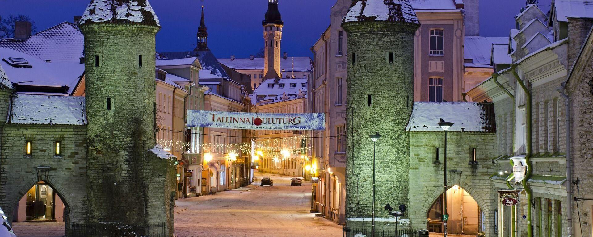 Вид на ночной Таллин, Эстония - Sputnik Латвия, 1920, 18.12.2020