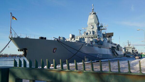 Корабли Военно-морских сил Германии в Рижском порту - Sputnik Латвия