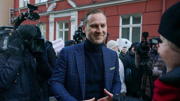 Акция протеста у здания Сейма с требованием провести внеочередные парламентские выборы - Sputnik Латвия