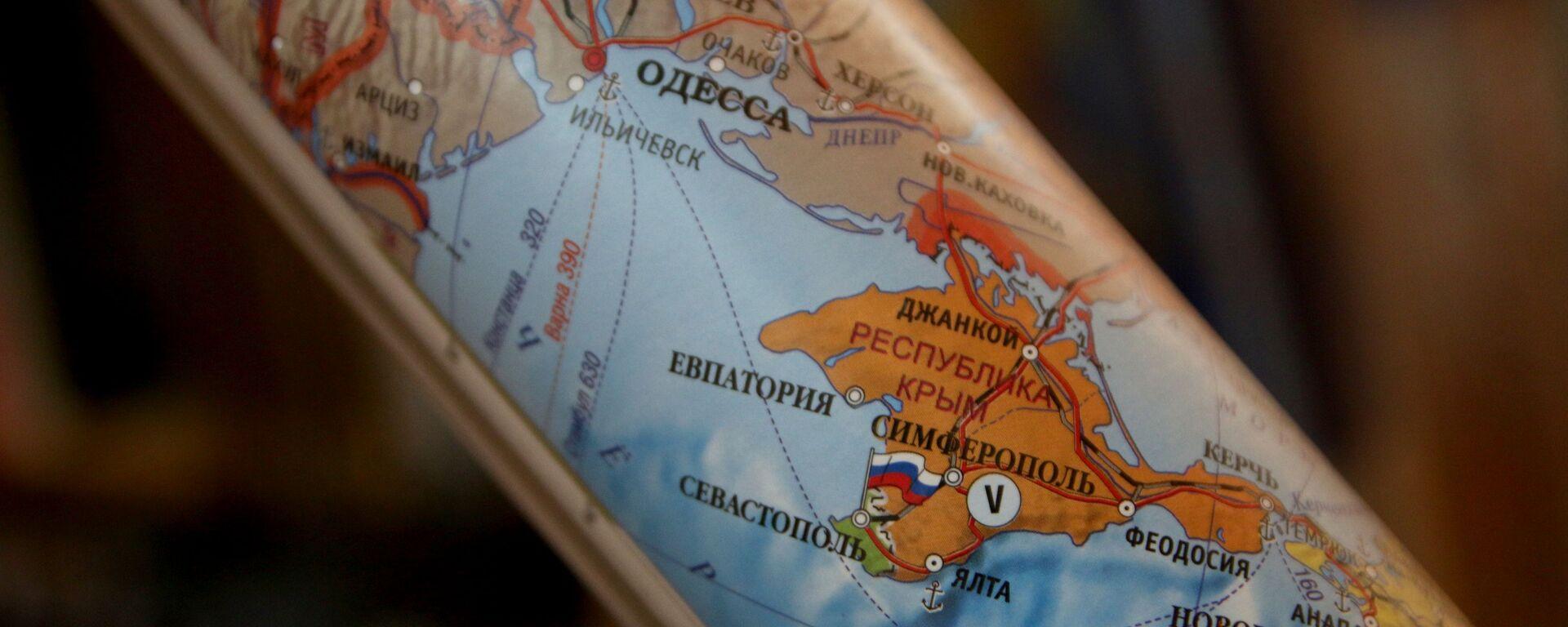 Крым на карте - Sputnik Latvija, 1920, 22.08.2021