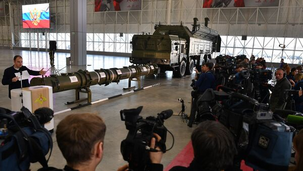 Демонстрация ракеты 9М729 комплекса Искандер-М для военных атташе - Sputnik Latvija