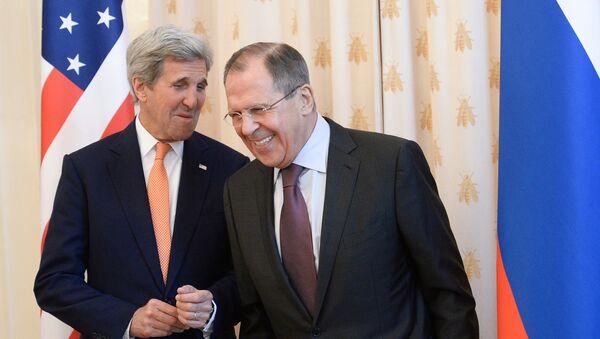 Встреча главы МИД РФ С.Лаврова с Государственным секретарем США Дж.Керри - Sputnik Латвия