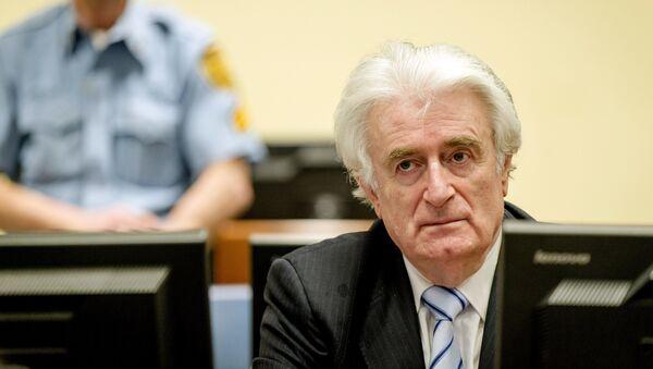Экс-лидер боснийских сербов Радован Караджич в суде в Гааге - Sputnik Латвия