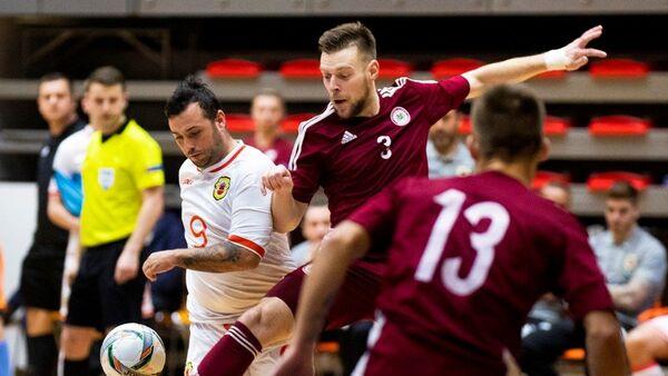 Матч между сборными Латвии и Гибралтара в рамках отбора на ЧМ-2020 по футзалу - Sputnik Латвия