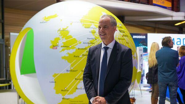 Мартин Гаусс, председатель правления национального авиаперевозчика airBaltic на выставке Balttour 2019 - Sputnik Latvija