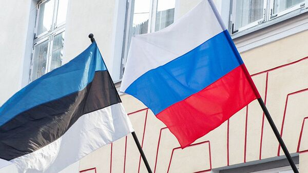 Флаги Эстонии и России - Sputnik Latvija