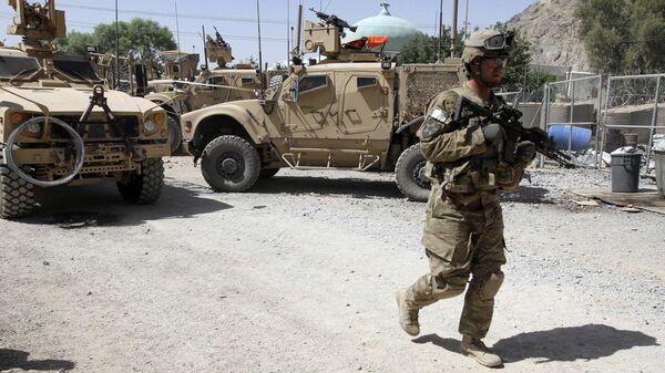 Солдат армии США в Афганистане. Архивное фото - Sputnik Latvija