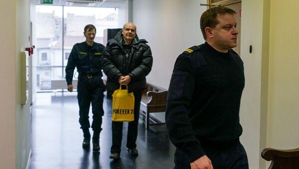 Пикет в защиту Олега Бурака у здания суда в Риге - Sputnik Latvija