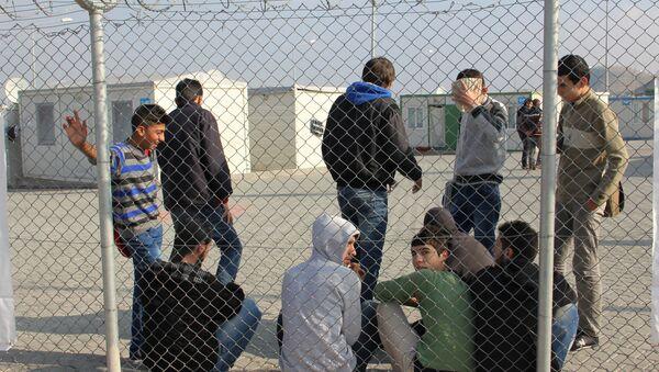 Лагерь сирийских беженцев - Sputnik Latvija