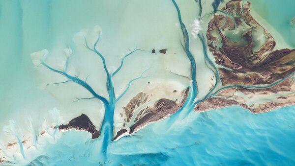 Вид из космоса на Лонг-Айленд, Багамские острова - Sputnik Латвия